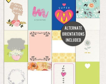 Mama - Journal Cards - Instant Download - Printable journaling cards for Project Life and digital scrapbooking