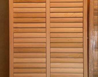 Bahama Window Shutters - Unfinished Poplar