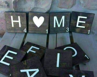 16 Scrabble Tiles
