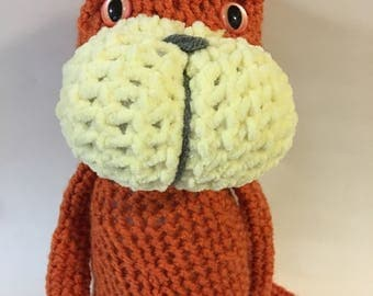 Orange Crocheted Amugurumi Animeko Cat