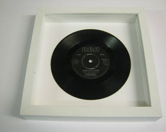 """Kenny Rogers """"Islands In The Stream"""" Special Unique Wall Framed 7"""" Vinyl Record Gift/Present"""