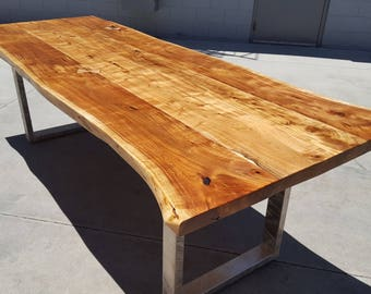 """100""""L Handcrafted, Acacia Wood Live Edge Dining/Office Table A007"""