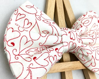 Heart Bow Tie | Valentine's Bow Tie | Bow Tie for Dogs | Dog Bow Tie