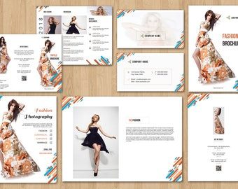 Fashion Branding, Branding Bundle Template   Photoshop and Elements Template   Instant Download