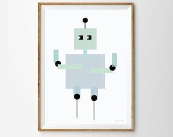 Robot Children's Print