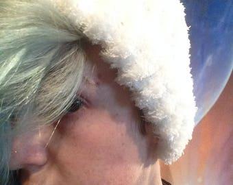 White Fuzzy Beanie
