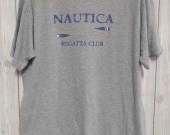 vintage 90s nautica sailling gear men t-shirt size L rare!!