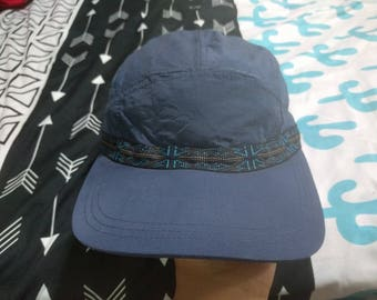 vintage 90s columbia trekking strapback cap hat 5 panel