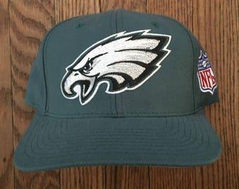 Vintage 90s Starter Philadelphia Eagles NFL Velcro Strapback Hat Baseball Cap