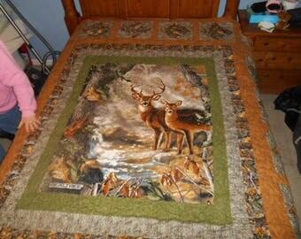 Deer wildlife quilt