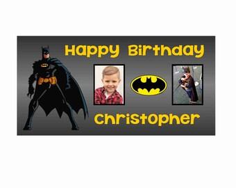 Personalized Batman Birthday Banner