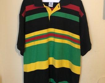 Men's Multi Colored; Red/Yellow/Green/Black Polo XL Shirt (not Ralph Lauren)
