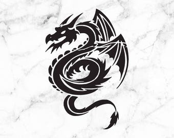 Dragon Decal, dragon sticker, vinyl decal, dragon car decal, Tumbler decals, window stickers, wall art
