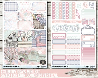 Country Days EC VERTICAL Planner Stickers