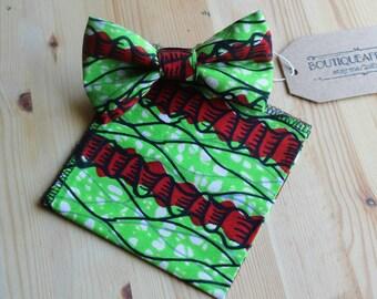 Bow Tie Green - Men Bow Tie - Green Bow Tie - Green Bow - Men Tie Sets - Bow Ties For Men - Men Gift Set - African Men - African Accessorie