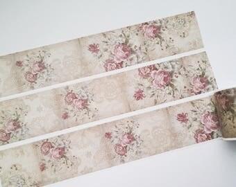 Design Washi tape vintage rose paper masking tape