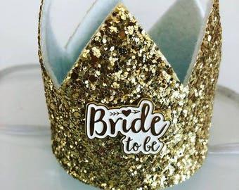 Bride Pink Glitter Crown - Hen Party - Bridal Shower - Crown - Princess Bride - NK0408