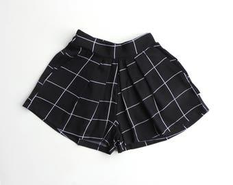 Girl Black Pleated Skirt - Baby Girl Black Skirt - Toddler Girl Black Skirt - Girls Black Shorts - Trendy Toddler Girl - By PetitWild