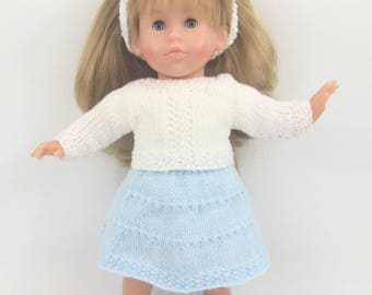 Doll clothes - skirt and Cardigan set