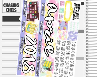 April Monthly Kit #MK21-24 Premium Matte Planner Stickers