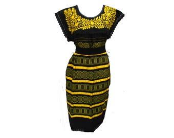 Embroidery mexican Dress, Boho dress, Frida Kahlo dress, Mexican embroidered dress, Mexican embroidery dress, Frida Kahlo clothing L89