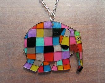 cute little elephant colorful