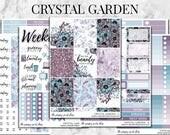 Crystal Garden Planner Sticker Kit Collection - For use in Erin Condren, Happy Planner, Plum Paper, Filofax, Kikki K, Calendar, TN, ECLP