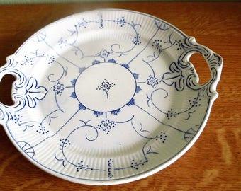 1950-1959, Boch Boch La Louviére Saks-Sax-Sakse serving dish with ears around 27 cm