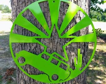 4x4 off road adventure sign 12-inch diameter