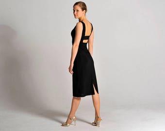 OLIVIA black tango dress, XS-L