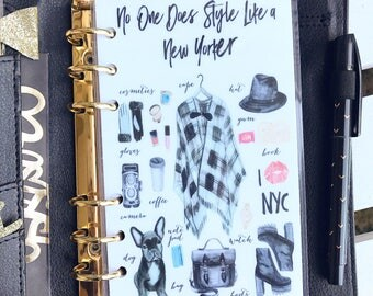 """Planner Dashboard: """"NYC Style"""", 10 Mil Laminated and Punched"""