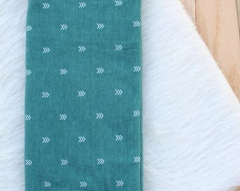 Simple Swaddle | Baby Blanket | Green Swaddle | Gender Neutral | Swaddle | Arrows