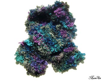 Knitted scarf, Fashion scarf, Ladies scarves, Handmade scarf, Colorful scarf, Winter accessories, Sciarpa colorata