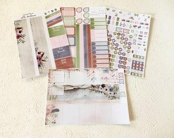 La Bohème - April - Monthly spread planner stickers - 4pages - Erin Condren - Plum Paper - Kikki K - Paperchase - Filofax