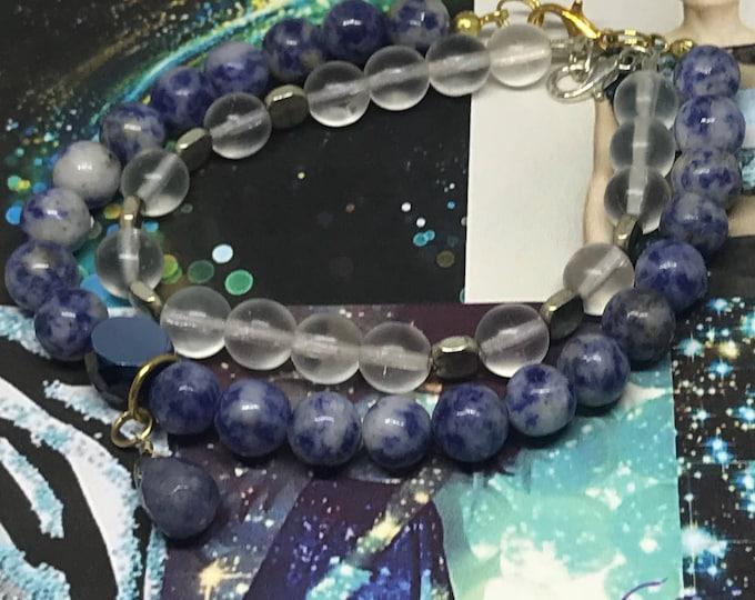Featured listing image: Gold  Blue Buddha  Bracelets Sets