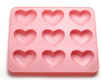 1 Shiny silicone Puffy heart mold- PREORDER - DISCOUNTED for PRESALE