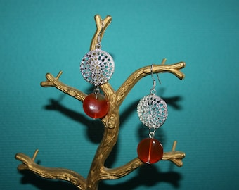 EARRINGS CARNELIAN AND FILIGREES