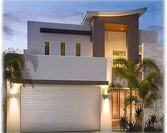 House Concept Plans For Sale /426 m2 /4580 sq feet/  4 Bed + Office + Home Cinema Modern Narrow Lot Design