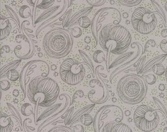 Moda BLUSHING PEONIES Quilt Fabric 1/2 Yard By Robin Pickens - Pebble 48613 20