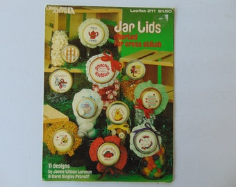 Jar Lids Charted for Cross Stitch 11 designs