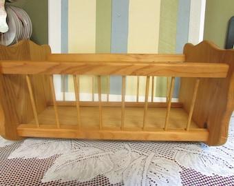 VINTAGE Wooden Doll Cradle, wooden doll cradle