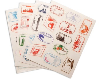 The Pet Pass 50 US State Stamp Stickers!