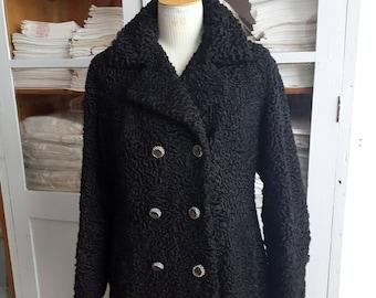 Vintage T 40 13250 Astrakhan fur coat