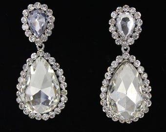 Little Girls Earrings | 4601-10 | Interview Earrings | Earrings for Little Girls | Pageant Earrings | Prom Earrings | Teardrop Earrings