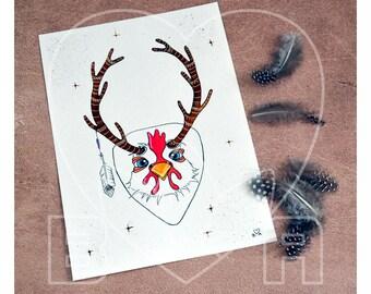 "From the ""Takahashi"" collection ""Hursch"", half chicken, half deer original"