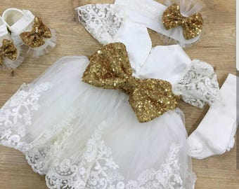 Christening Dress/Gown, Baptism Dress, Baptism Gown,Newborn dress, Baby Girl Dress, Birthday Dress, Dedication Dress, Easter Dress