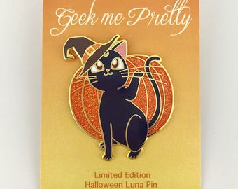 Sailor Moon Halloween Luna Hard Enamel Pin Limited Edition