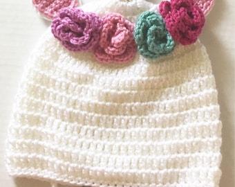Crochet Unicorn Hat - Made to Order - 9-12 months Unicorn Hat