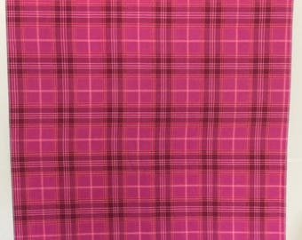 Baby Girl Receiving Blanket # Pink Plaid  #Flannel Swaddle Cloth