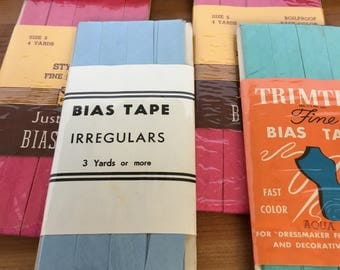 Bias and hem tape lot vintage mixed size and color sewing essentials
